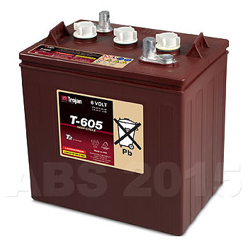 Trojan 6 Volt T605 Battery