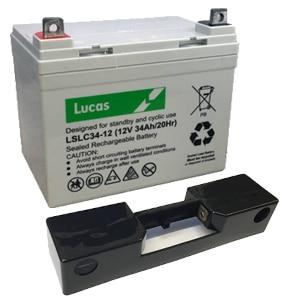 34ah Lucas golf battery with t-bar