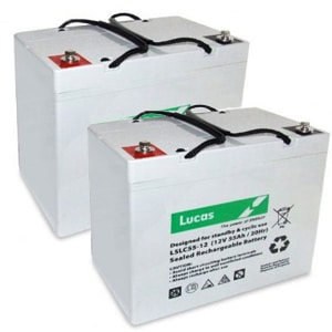 pair of lucas 55ah lslc batteries