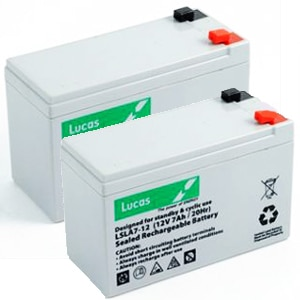 Pair of Lucas 12v 7ah batteries