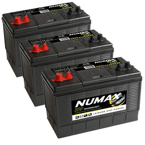 3 x Numax XV31 Batteries