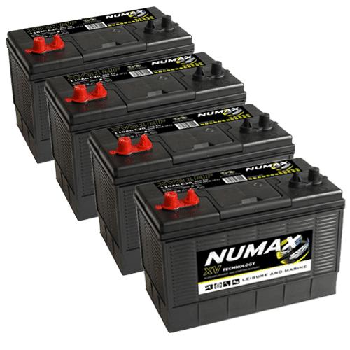 4x Numax XV31 Batteries