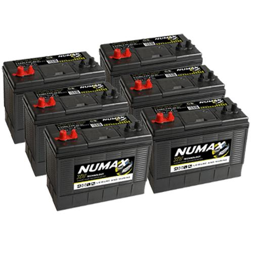 6 x Numax XV31 Batteries