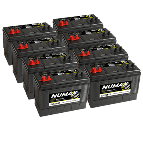8 x Numax XV31 Batteries