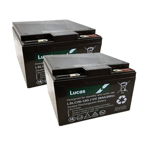 Pair of Lucas 26ah
