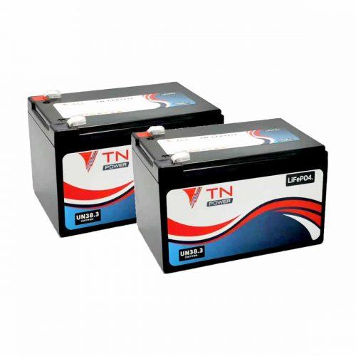 pair of lithium tn power 12v12ah batteries